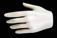 Seamless Female Caucasian Large Breast DLX Head: Pale - Left Relaxed Hand