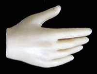 Seamless Female Caucasian Large Breast DLX Head: Pale - Right Relaxed Hand