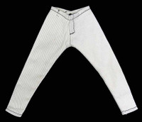 Unknown: Loose - White Skinny Jeans Pants