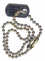 GI Joe: Major Bludd - Dog Tags (Clean) (See Note)