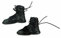 Revenger - Black Lace Up Boots (For Feet)