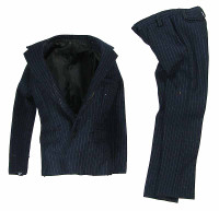 VC: Men's Suits - Blue Pinstriped Suit Coat & Pants
