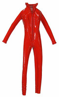 Heroes of the North: Crimson - Vinyl Red Jumpsuit (AS IS) (Zipper Pull Included but needs to be Re-attached)