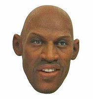Dennis Rodman - Head w/ Smiling Expression (Small Notch on back of head for Hair to fit into)