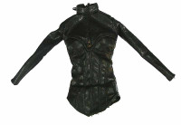 Female Intelligence Agent  -  Leather Bustier Type Shirt