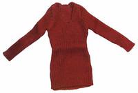Women's V Neck Dresses - Red V_Neck Dress