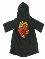 Blade Girl Bolita - Large Hooded Black Robe