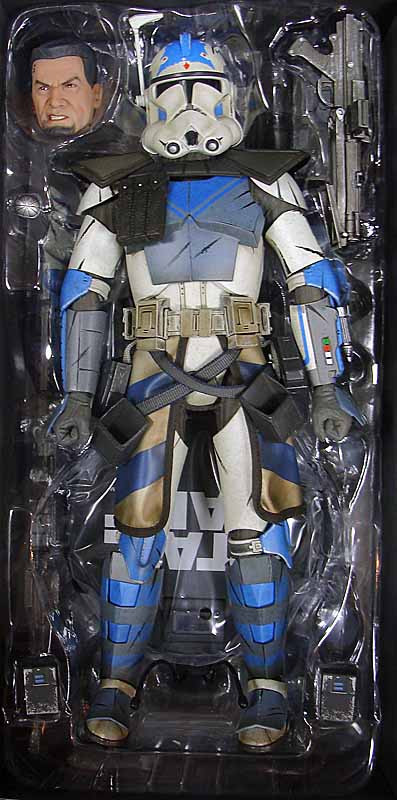 "Star Wars Republic Clone Trooper Sergeant Green White 6/"" Loose Action Figure"