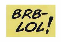 Marvel Comics: Deadpool - Sticker BRB-LOL!
