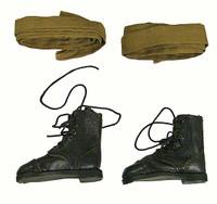 Soviet Female Sniper - Boots w/ Cloth Leggings (For Female Feet)