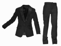 Wild Toys: MI6 Agent Paul - Black Tuxedo Suit Coat & Pants