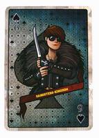 Gangster Kingdom: Spade 6 Ada - 1:1 Scale Playing Card