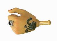 Gangster Kingdom: Spade 6 Ada - Left Gripping Hand w/ Tattoos