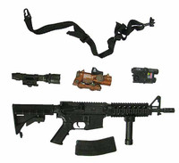 Female Shooter ACU - Machine Gun w/ Accessories