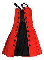 Fit & Flare - Red & Black Dress