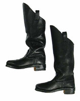 Major General George E Pickett - Black Leather Boots (For Feet)