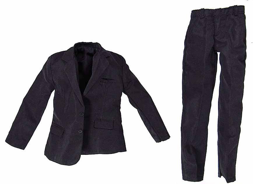 Hitman Agent 47 Black Satiny Suit Coat Pants