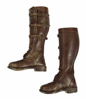 "2nd Armored Division ""Hell On Wheels"" Sgt. Donald (Weathered) - Brown Tall Leather Boots (For Feet)"
