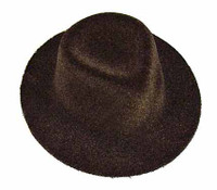 Lauren Begins - Brown Fuzzy Cowgirl Hat