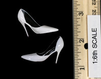POP Toys: Office Lady Business Suits - White High Heeled Shoes (For Feet)