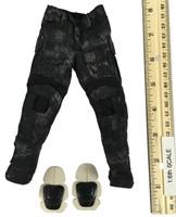 Black Python Camo Combat Suit Set - Pants w/ Knee Pads