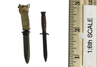 2nd Armored Division Military Police: Bryan - Bayonet  / Knife w/ Sheath (Metal)
