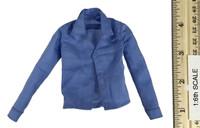 Female Joker - Solid Blue Long Sleeve Shirt