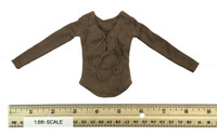 Female Character Set CT-003A Carol TWD - Brown Front Tie Long Sleeve Shirt