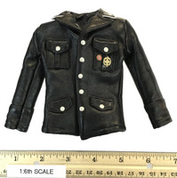Infernal Clockwork Men - Black Leather Jacket w/ Medals & Insignia
