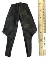 Infernal Clockwork Men - Black Leather Riding Pants