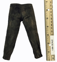The Hunter - Distressed Suede Leather-like Pants w/ Stitching up the Sides