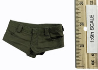 Women's Military Style Summer Outfits - Short Shorts (Green)