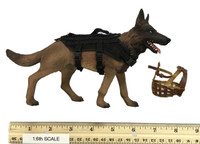 SDU Special Duties Unit Assault K9 - Dog w/ Harness & Muzzle