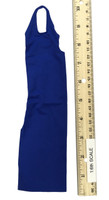 Bodycon Sleeveless Dress Sets - Halter Dress (Blue)
