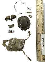 US Navy Seal Team Six K9 Halo Jumper - Helmet (AOR1) w/ Accessories