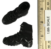 Titans Private Military Contractor: Frank Casey - Black Lace Up Boots (For Feet)