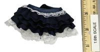 Female Clown - Blue Skirt w/ Lace Trim