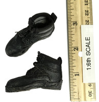 Officer Zombie - Weathered Lace Up Boots (For Feet)