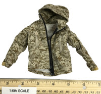 Digital Camouflage Women Soldier: Max - Camo Hooded Jacket