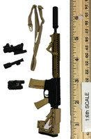 Digital Camouflage Women Soldier: Max - Rifle w/ Sling and Acc. (M4)