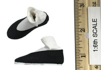 China Military Spirit - Black Cotton Shoes w/ Built In Socks