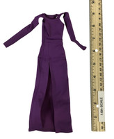 Bare Shouldered Evening Dress - Evening Dress (Purple)
