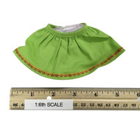 Oktober Girl Dress Set - Dress (Green) w/ White Underskirt