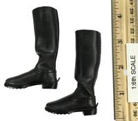Major General Drud: German Communications - Black Leather Jack Boots (For Feet)