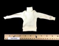 U-Boat Captain - Turtle Neck Ribbed Sweater (White)