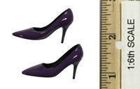 Bunny Girl Waitress Suit Sets - High Heels (Purple)