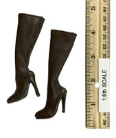 Fighting Girls in Camo - Tall Boots (Brown) (For Feet)