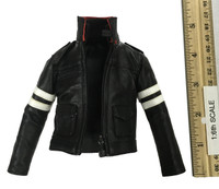 Prototype Ballistic: Alex Mercer - Black Leather Jacket w/ Logo on Back
