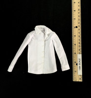 Hell Detective: Lucifer - White Long Sleeve Satiny Shirt