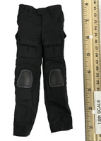 The Tough Guy - Black Cargo Pants w/ Built in Kneepads